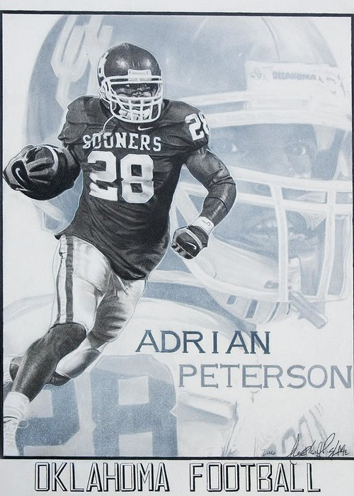 Sports Greeting Card featuring the photograph Adrian Peterson by Raymond Potts