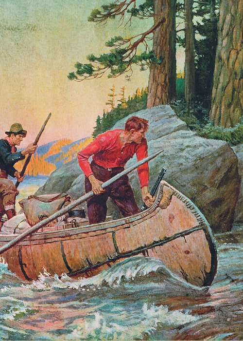 Philip Goodwin Greeting Card featuring the painting Adventures On The Nipigon by JQ Licensing