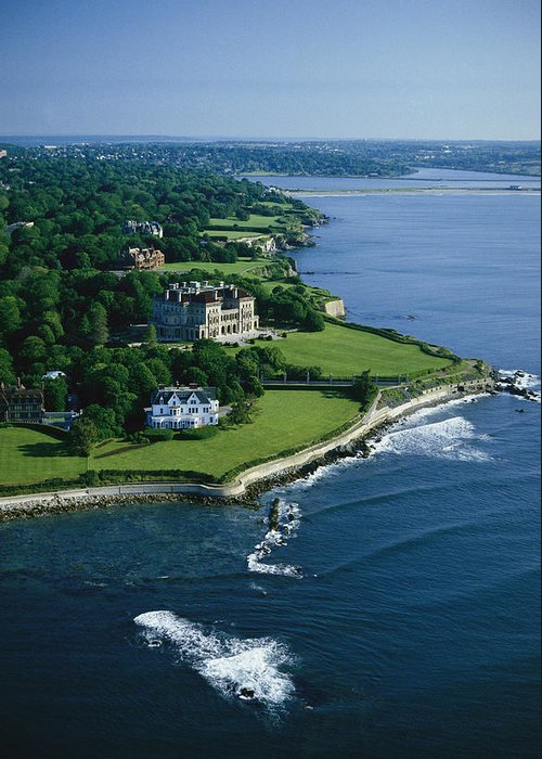 North America Greeting Card featuring the photograph Aerial Of The Breakers, A Mansion Built by Ira Block