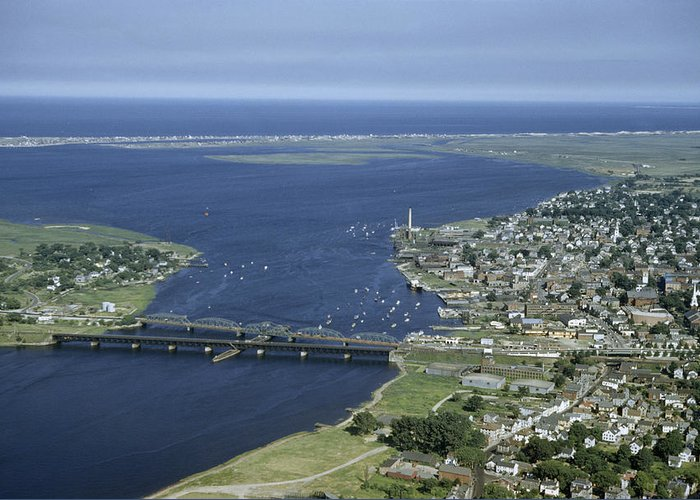 Outdoors Greeting Card featuring the photograph Aerial View Of The Mouth Of Merrimack by Jack Fletcher