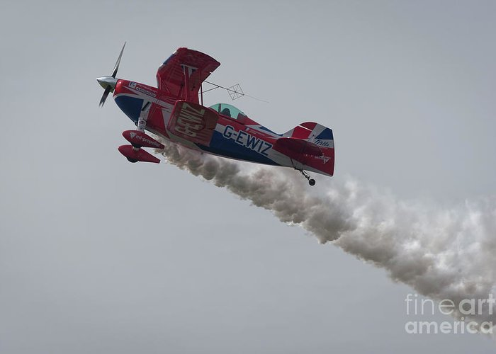 Aerobatics Greeting Card featuring the photograph Aerobatics by Philip Pound