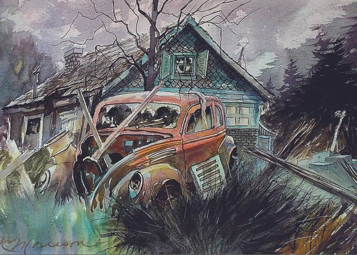 Ford Greeting Card featuring the painting Affordable by Ron Morrison