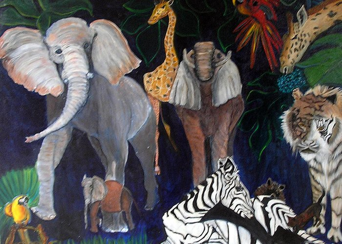 Greeting Card featuring the painting Africa by Pilar Martinez-Byrne