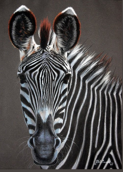 Wildlife Greeting Card featuring the painting African Beauty by Deb Owens-Lowe