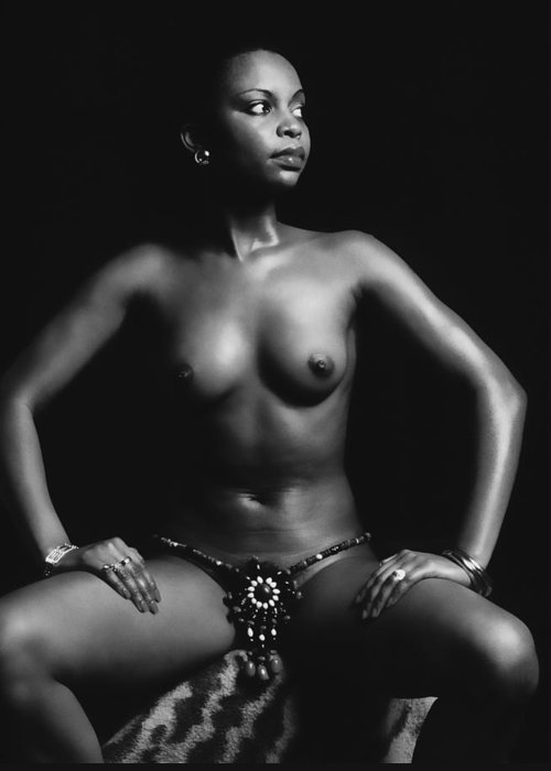 Erotic Fine Art Greeting Card featuring the photograph Africana by Stuart Brown