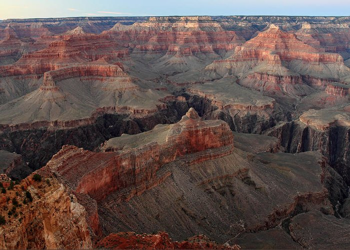 Grand Canyon Greeting Card featuring the photograph After Sunset Colors In The Grand Canyon by Pierre Leclerc Photography