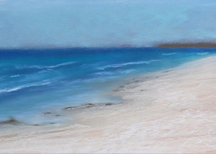 Landscape Greeting Card featuring the pastel Afternoon On Honeymoon Island by Greg Neal