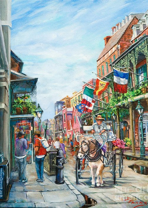 New Orleans Art Greeting Card featuring the painting Afternoon On St. Ann by Dianne Parks