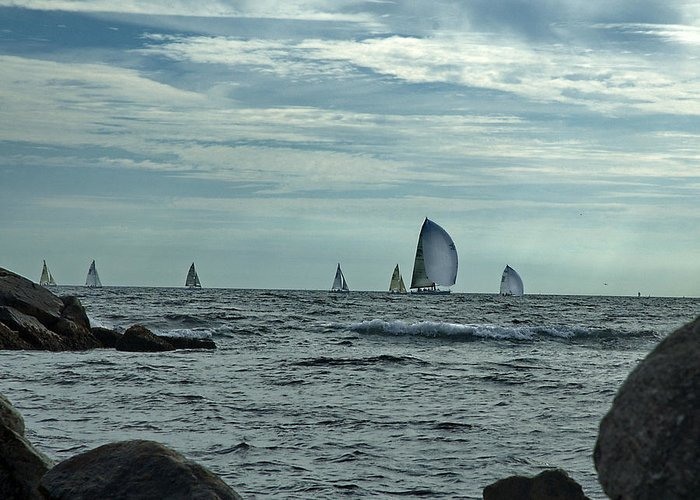 Sailboats Greeting Card featuring the photograph Afternoon Sail by Barry Doherty
