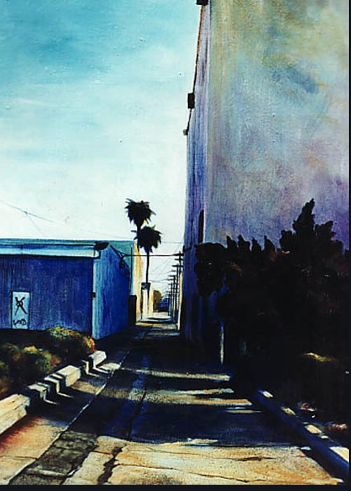 Cityscapes Greeting Card featuring the painting Afternoon Shade by Duke Windsor