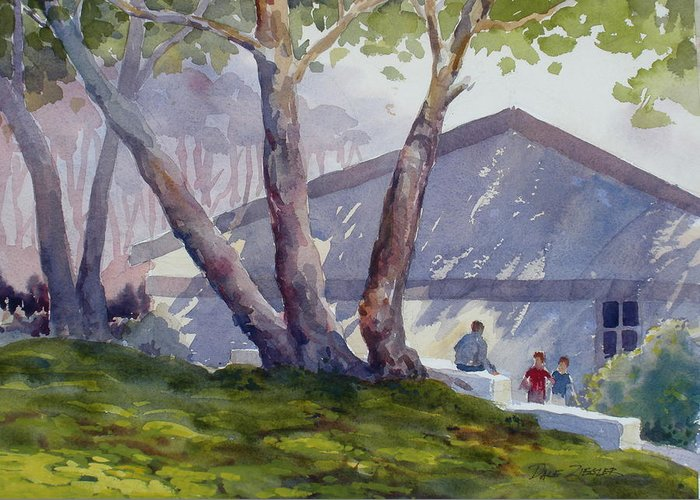 Landscape Greeting Card featuring the painting Afternoon Shadows by Faye Ziegler