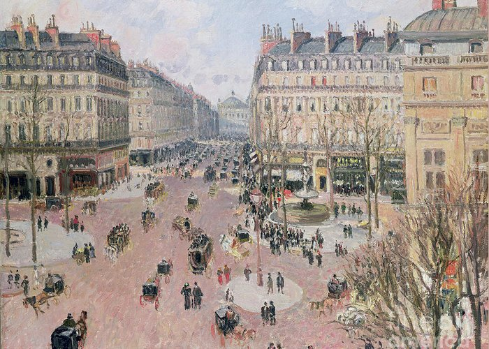 Place Greeting Card featuring the painting Afternoon Sun In Winter by Camille Pissarro