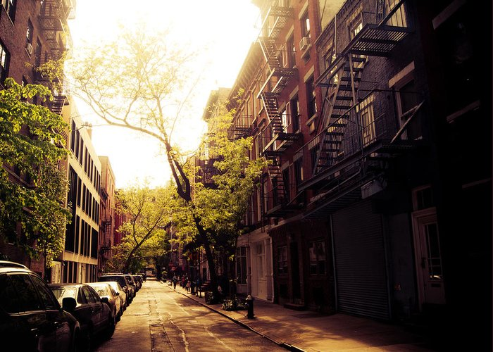 Beautiful Greeting Card featuring the photograph Afternoon Sunlight On A New York City Street by Vivienne Gucwa