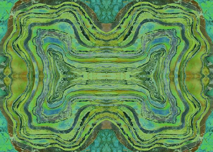 Agates Greeting Card featuring the tapestry - textile Agate Inspiration - 24 B by Sue Duda
