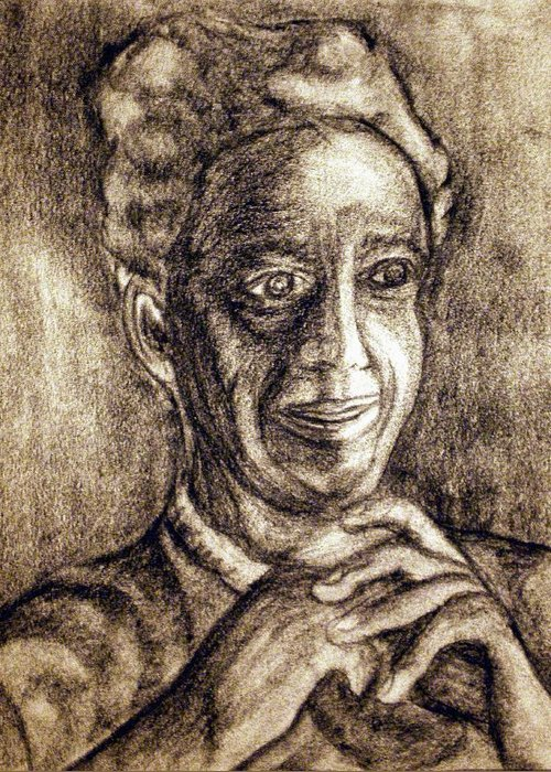 Woman Greeting Card featuring the drawing Age And Grace by Tammera Malicki-Wong