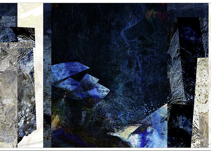 Abstract Greeting Card featuring the digital art Age Of Aquarium by James VerDoorn