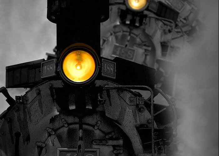 Locomotive Greeting Card featuring the photograph Age Of Steam by Joe Bonita