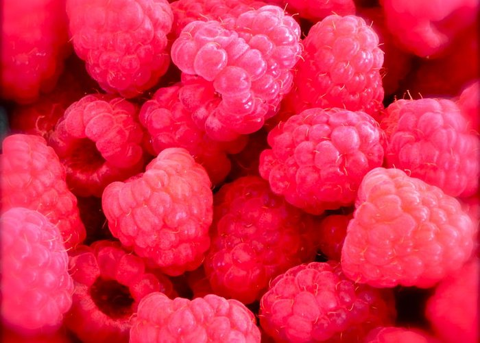 Photograph Of Berries Greeting Card featuring the photograph Agenda For Today ... Raspberry Jam by Gwyn Newcombe