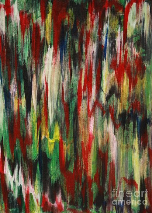 Abstract Greeting Card featuring the painting Agony by Jacqueline Athmann