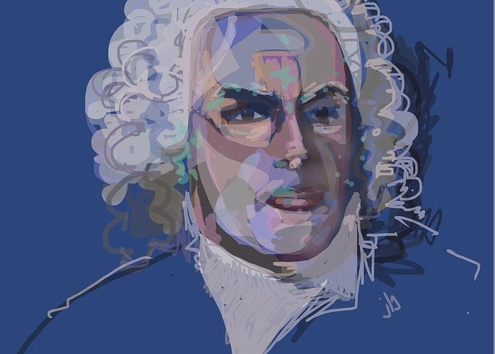 Bach Greeting Card featuring the digital art Ah, Bach by Jennifer Buerkle