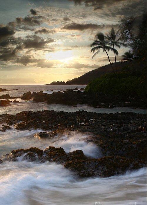 Aloha Greeting Card featuring the photograph Ahe Lau Makani O Paako by Sharon Mau