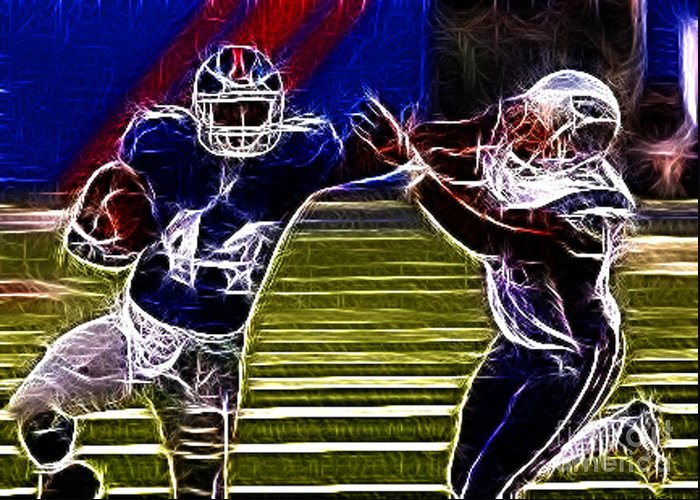 Football Greeting Card featuring the photograph Ahmad Bradshaw by Paul Ward