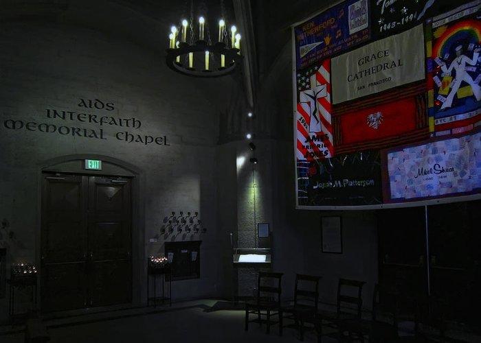 Aids Greeting Card featuring the photograph Aids Interfaith Memorial Chapel - San Francisco by Daniel Hagerman