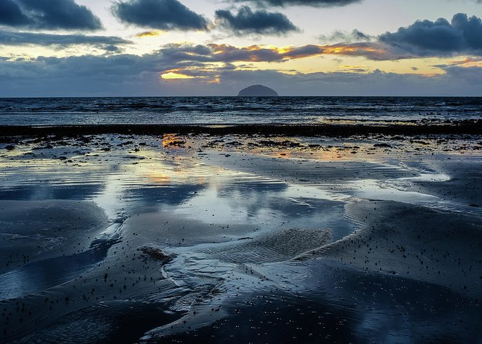 Scotland Greeting Card featuring the photograph Ailsa Craig by Peter OReilly
