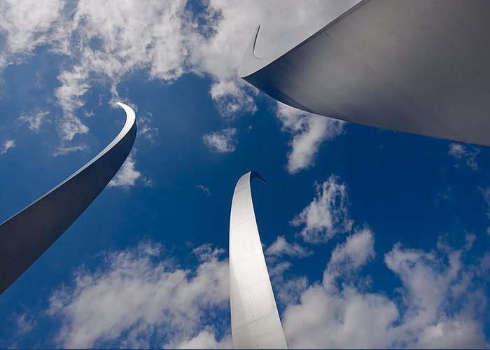 Travel Greeting Card featuring the photograph Air Force Memorial by Louise Heusinkveld