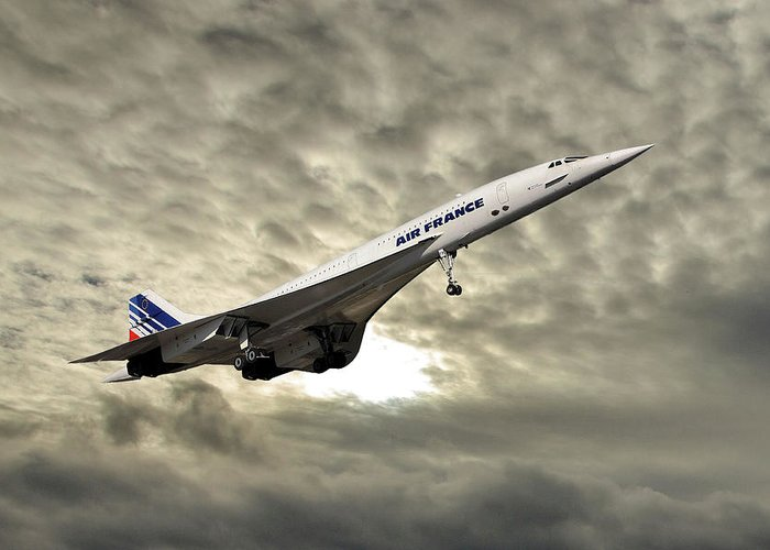 Air France Greeting Card featuring the photograph Air France Concorde 115 by Smart Aviation
