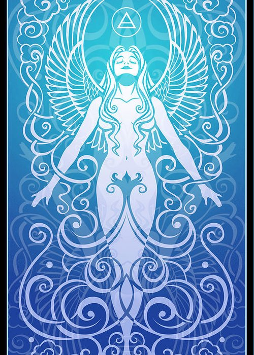 Goddess Greeting Card featuring the digital art Air Spirit by Cristina McAllister