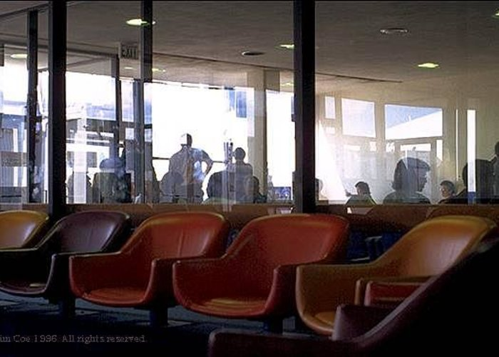 Reflections Greeting Card featuring the photograph Airport Waiting by Jim Coe