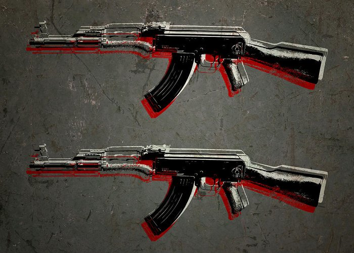 Ak47 Greeting Cards
