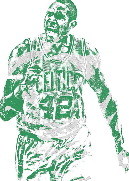 Al Horford Greeting Card featuring the mixed media Al Horford Boston Celtics Pixel Art 7 by Joe Hamilton