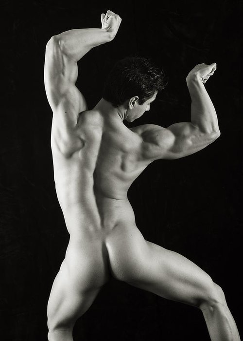 Male Nudes Greeting Card featuring the photograph Alan 1 by Thomas Mitchell