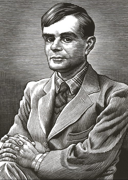 Alan Turing Greeting Card featuring the photograph Alan Turing, British Mathematician by Bill Sanderson