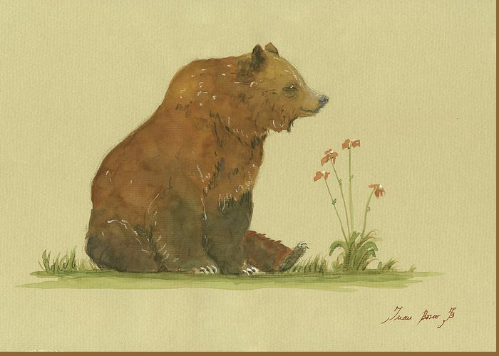 Brown Bears Greeting Cards