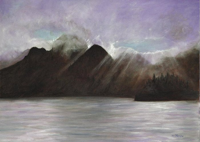 Waterscape Greeting Card featuring the painting Alaskan Morning by Merle Blair