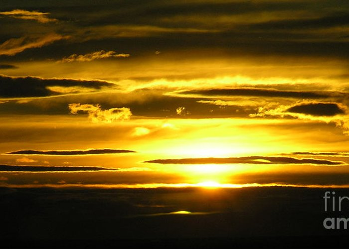Sunset Greeting Card featuring the photograph Alaskan Sunset by Louise Magno