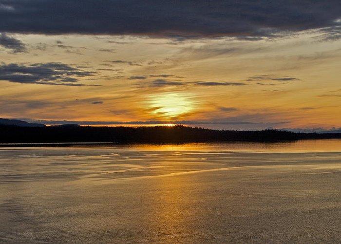 Alaska Greeting Card featuring the photograph Alaskan Sunset by Robert Joseph