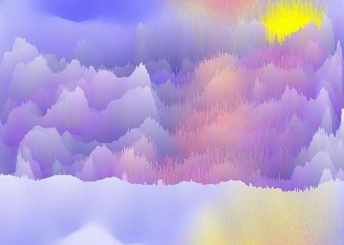 Sky.polar Lights.entire Day Is The Sun.river.ice.snow. The Ice-hummocks.  Greeting Card featuring the digital art Alaska.yukon.cold. by Dr Loifer Vladimir