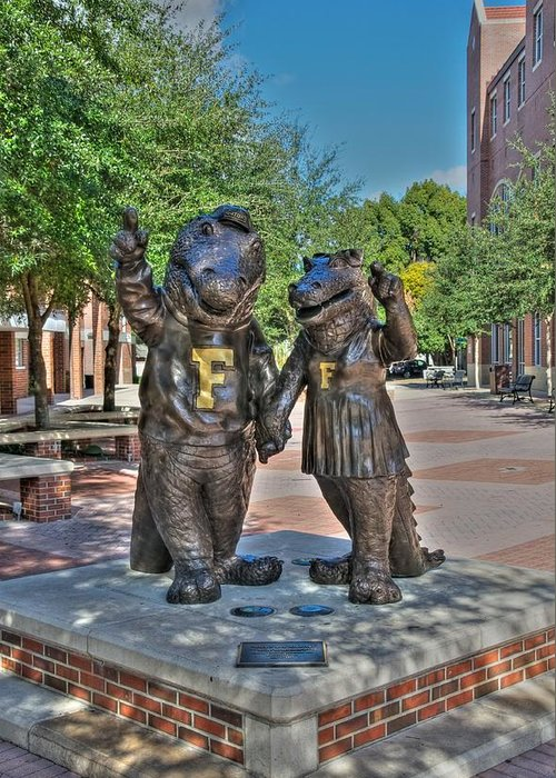 Uf Greeting Card featuring the digital art Albert And Alberta by Dean Traiger
