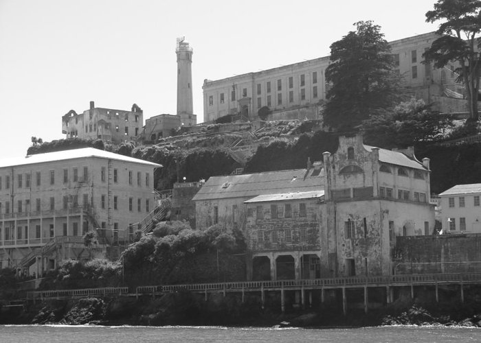 Landscape Greeting Card featuring the photograph Alcatraz Island by Bobby Miranda