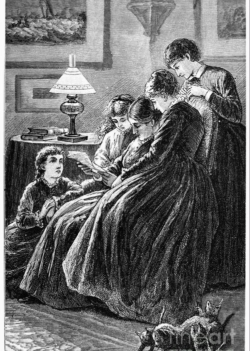 19th Century Greeting Card featuring the photograph Alcott: Little Women by Granger