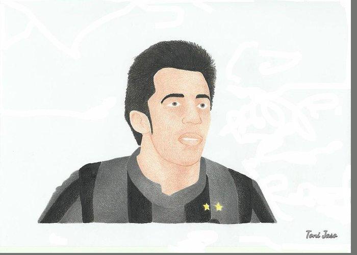 Juventus Drawings Greeting Cards