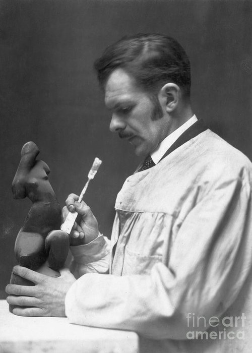 1920s Greeting Card featuring the photograph Alexander Archipenko by Granger