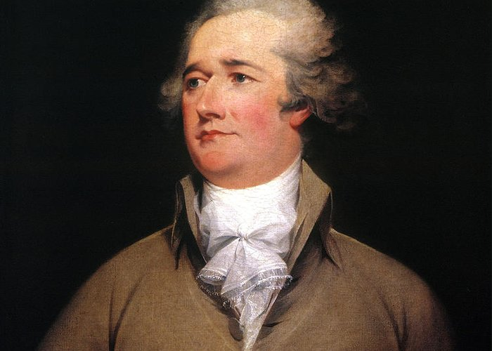 1792 Greeting Card featuring the photograph Alexander Hamilton by Granger