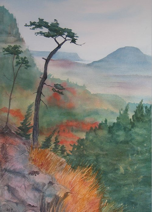 Early Morning Greeting Card featuring the painting Algoma Morning by Debbie Homewood