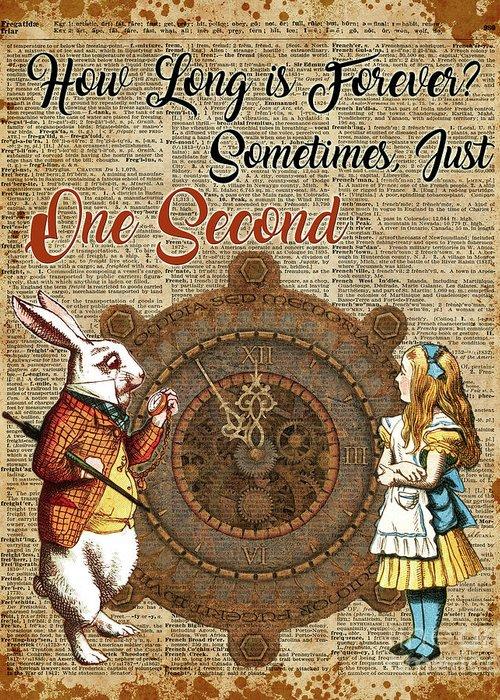 ART PRINT ANTIQUE BOOK PAGE DICTIONARY Alice In Wonderland VINTAGE White Rabbit
