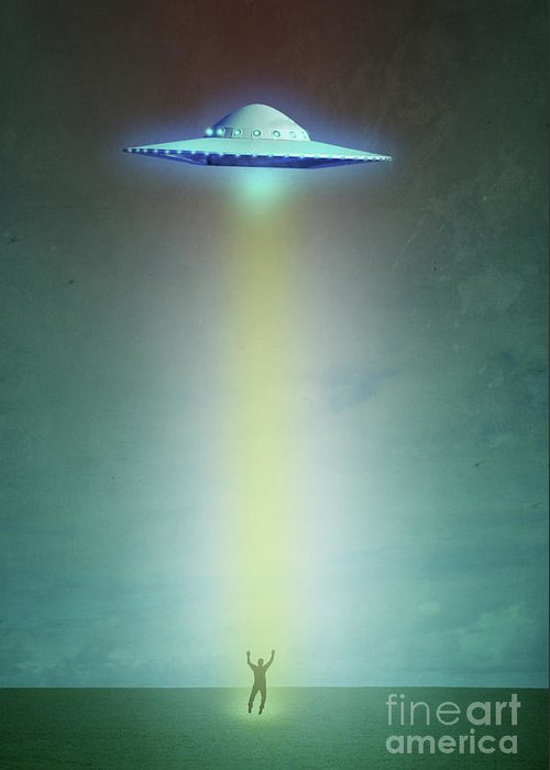 Alien Abduction Greeting Cards